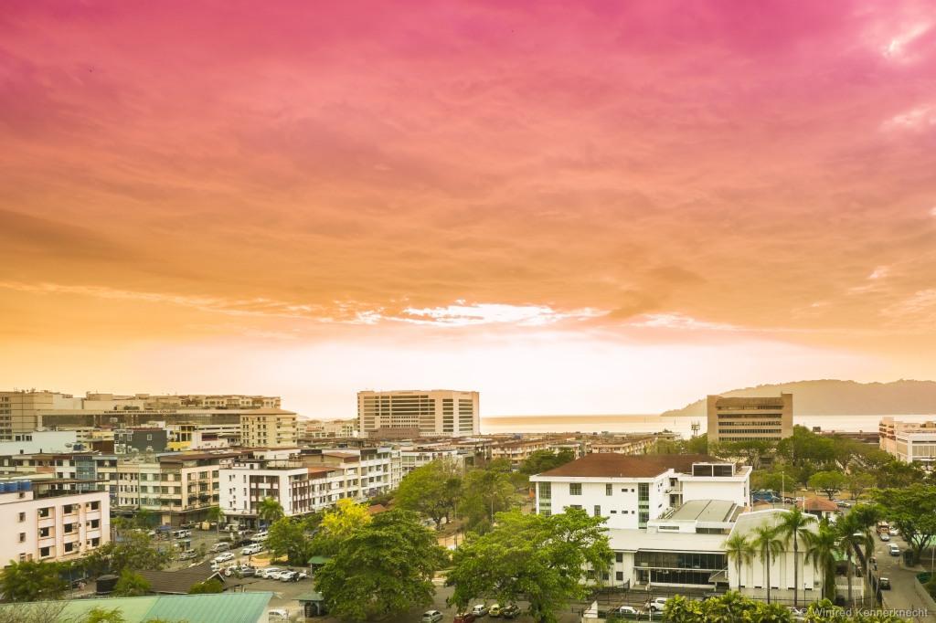 Sunset in Kota Kinabalu, Malaysia.
